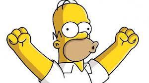 Homer Simpson victoire